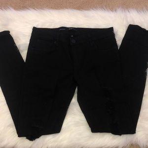 Destructed Black Skinny Jeans